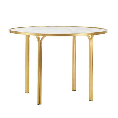 "KANTAN BRASS 42"" ROUND DINING TABLE"