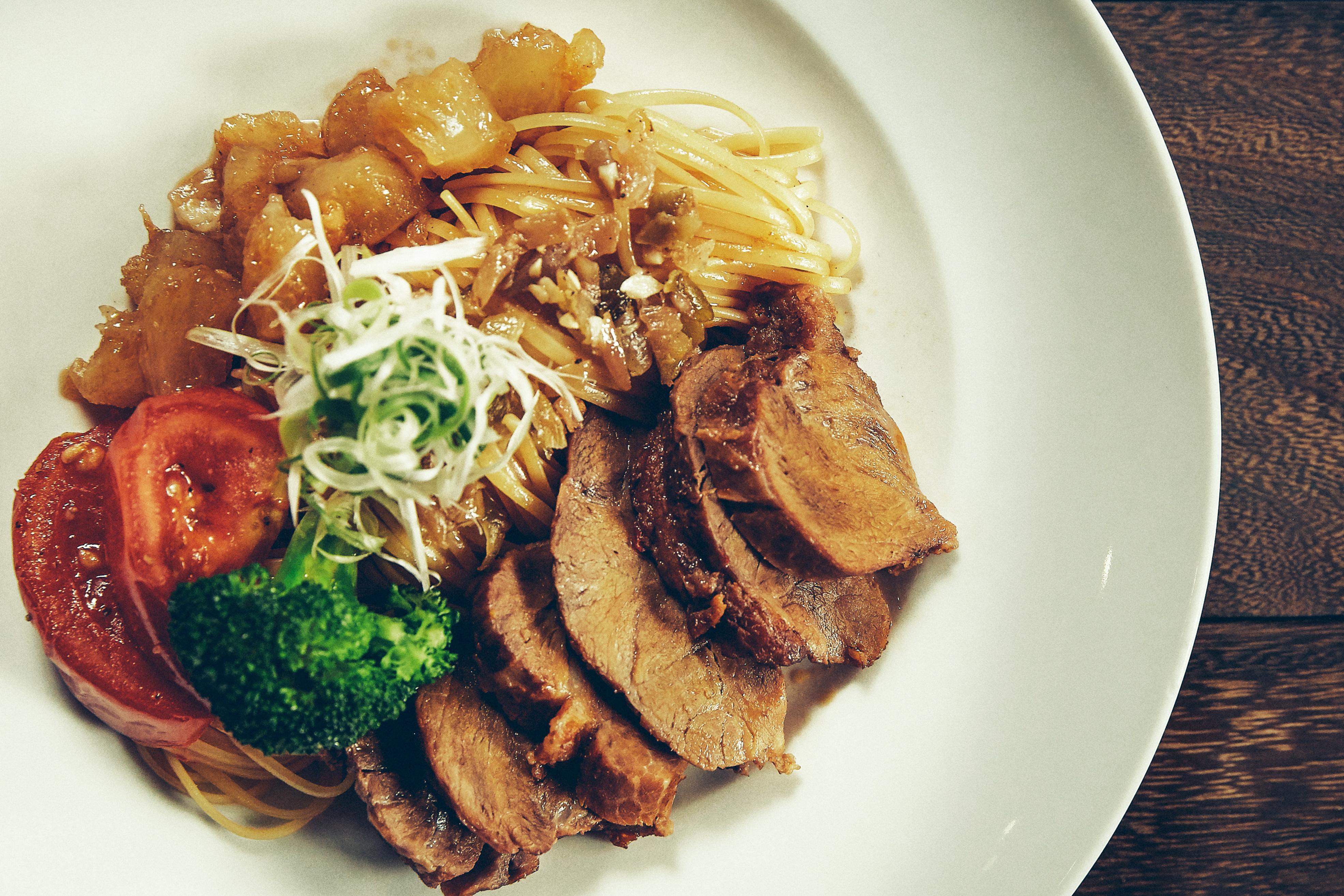 台式紅燒豬肉義大利麵