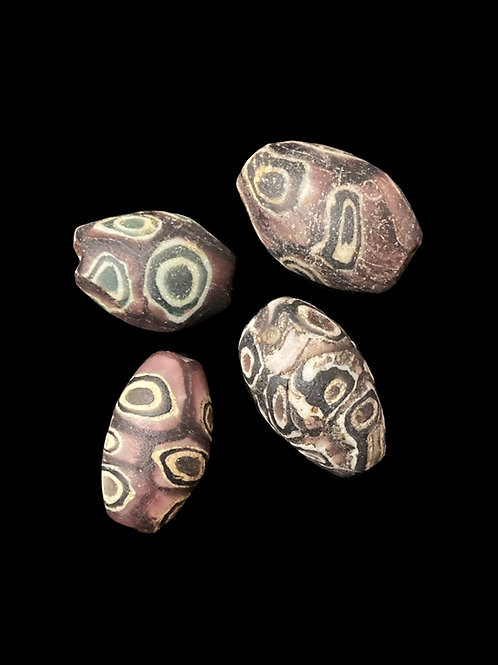 Ancient Islamic Purple Glass Eye Beads