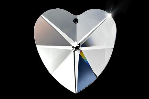 28mm Crystal Heart