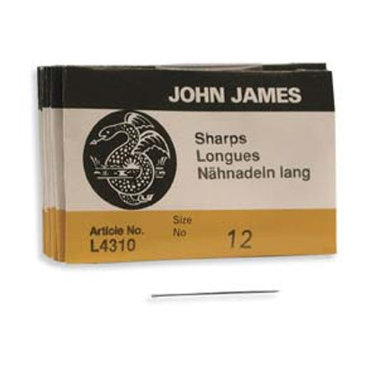 Size 12 Sharps English Needles - 25 Pack