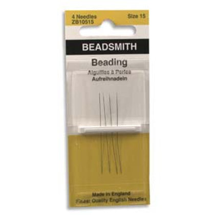 Size 15 English Beading Needles - 4 Pack