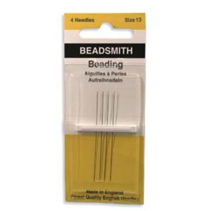 Size 13 English Beading Needles - 4 Pack