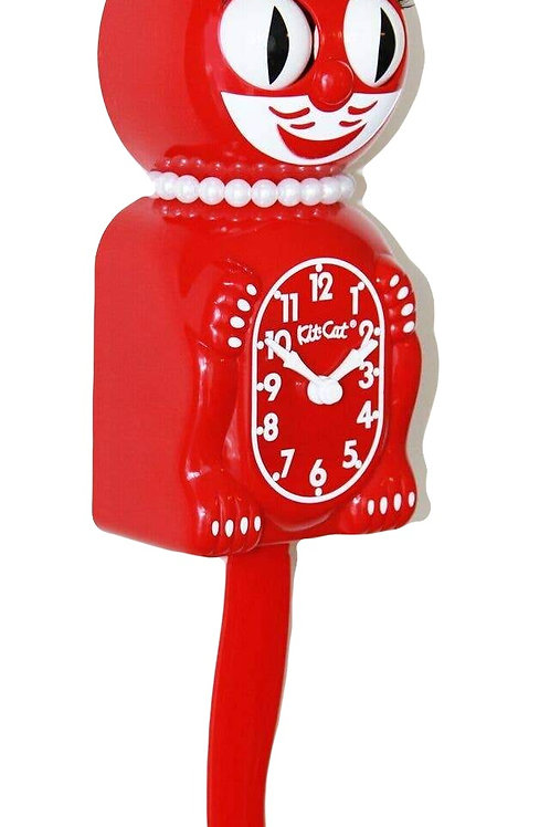 Scarlet Lady Kit-Cat Clock