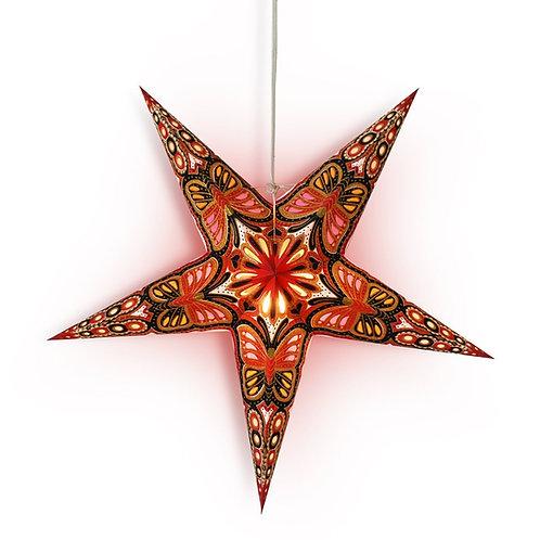 Red/Black Butterfly Glitter