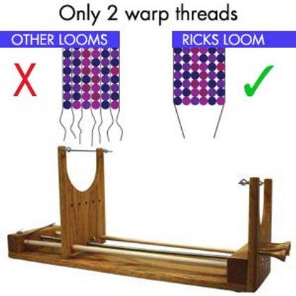 Rick's Two Warp Beading Loom