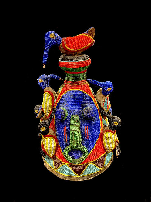 Yoruba Beaded Crown Headdress