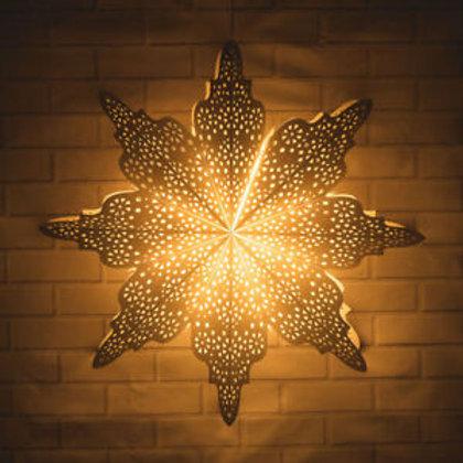 White Holiday Moroccan Snowflake