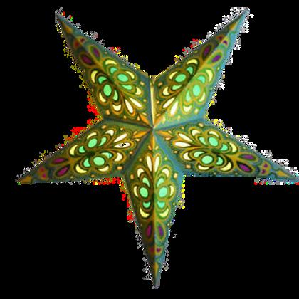 Merry Gold Light Turquoise Glitter