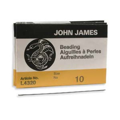 Size 10 English Beading Needles - 25 Pack