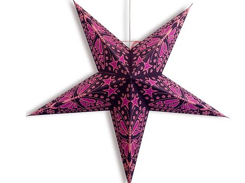 Purple Pink Butterfly Stars