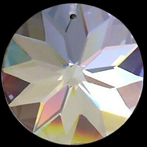 40-45mm Crystal Flat Round