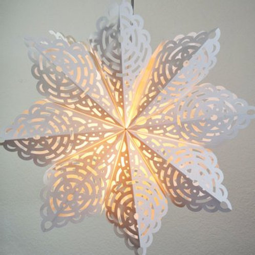 White Winter Frost Snowflake