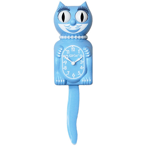 Serenity Blue Lady Kit-Cat Clock