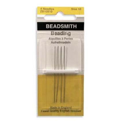 Size 10 English Beading Needles - 4 Pack