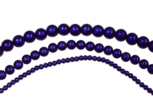 Navy Blue Miracle Bead Strands