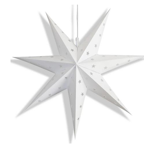 White 7-Point Weatherproof Star
