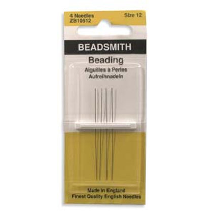 Size 12 English Beading Needles - 4 Pack