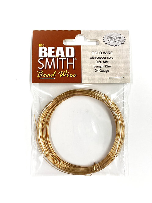 Round Gold German Bead Wire