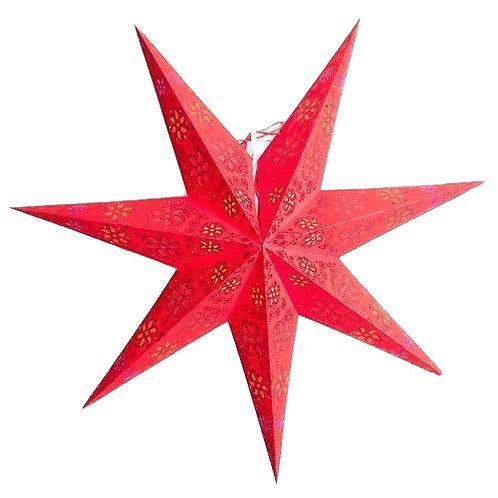 Dark Red Winds Glitter 7-Point