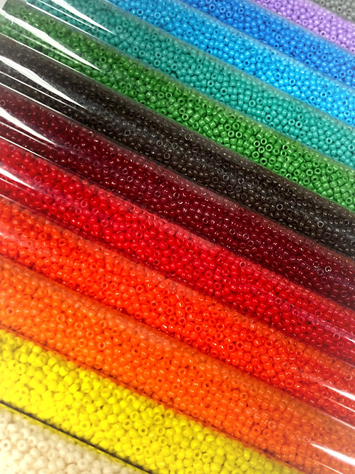 Size 11 Solid Opaque Seed Beads