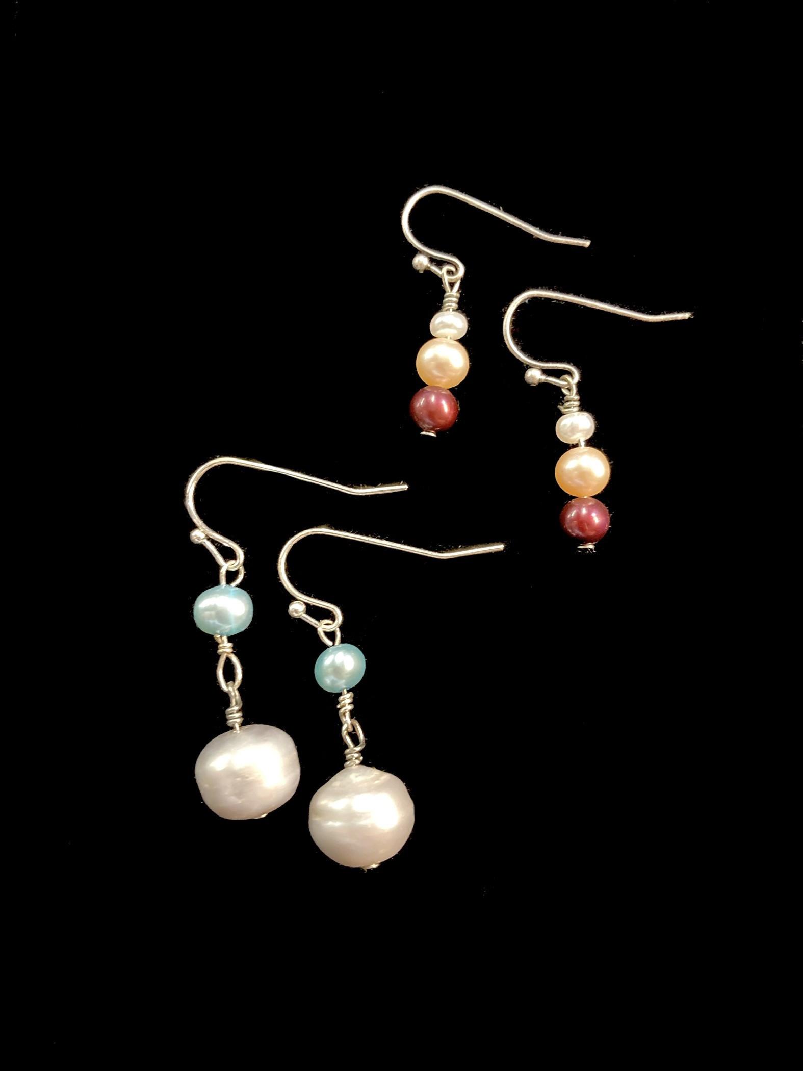 Spring Pearl Earrings