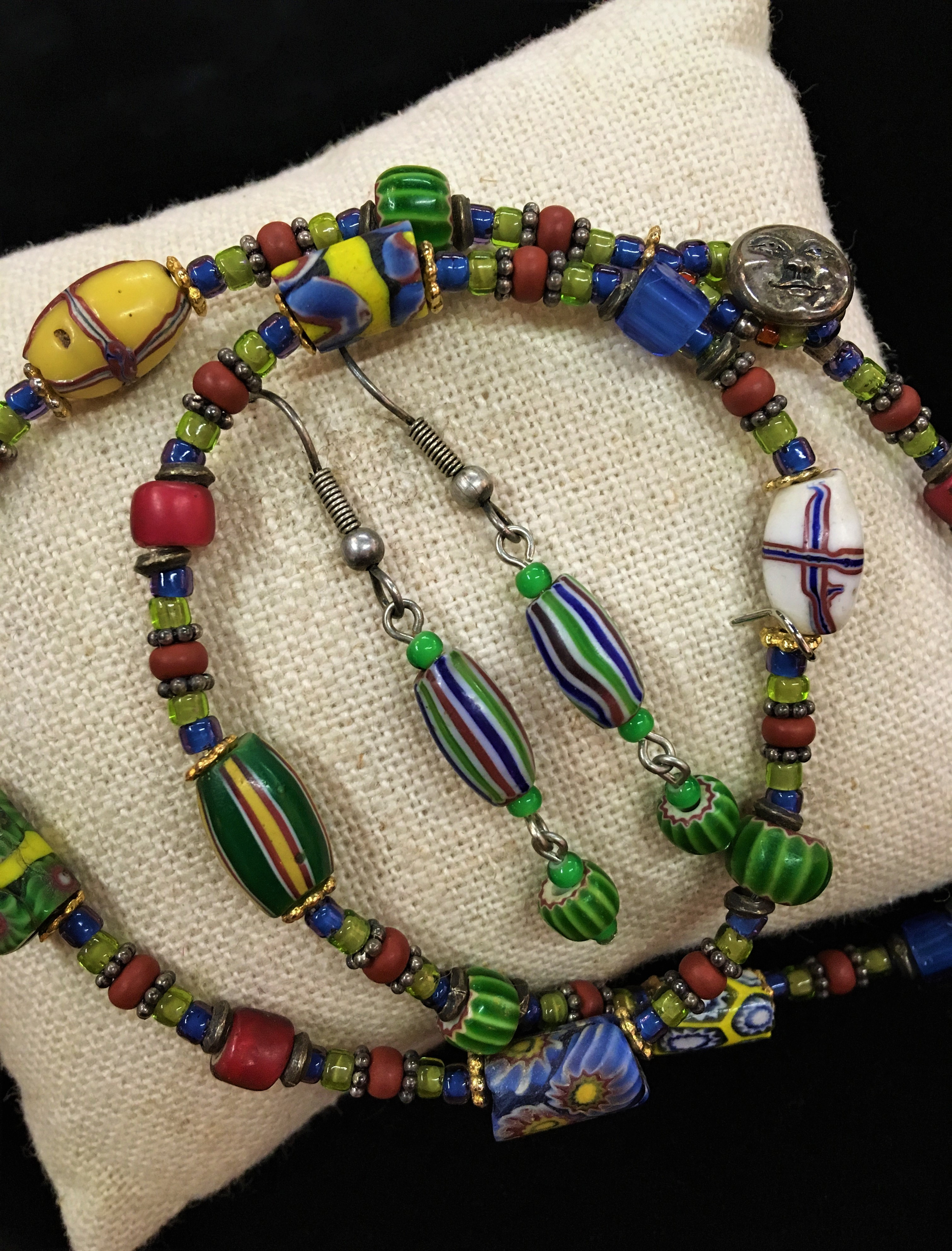 Antique Trade Bead Jewelry Set
