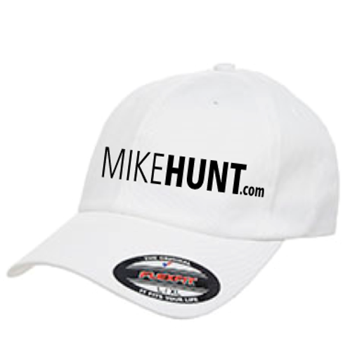 White MIKEHUNT hat