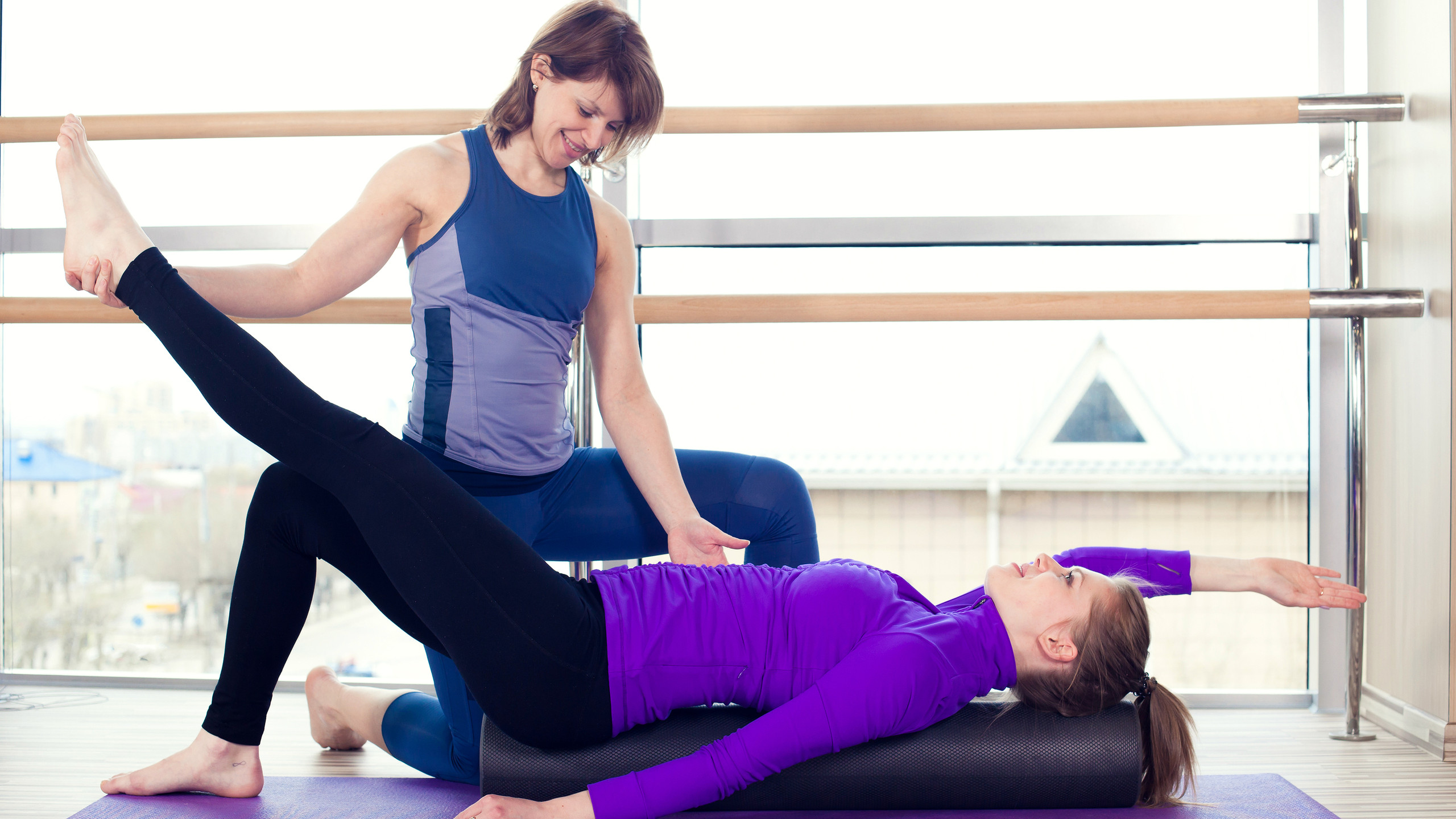 Foam Rollers are utlitized to improve mobility of fascia / connective tissues