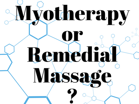 Myotherapy vs Remedial Massage Therapist | THE DIFFERENCE?