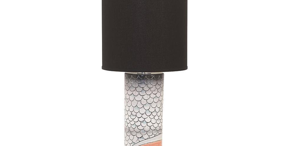 Antica Deruta  lamp base wih shade