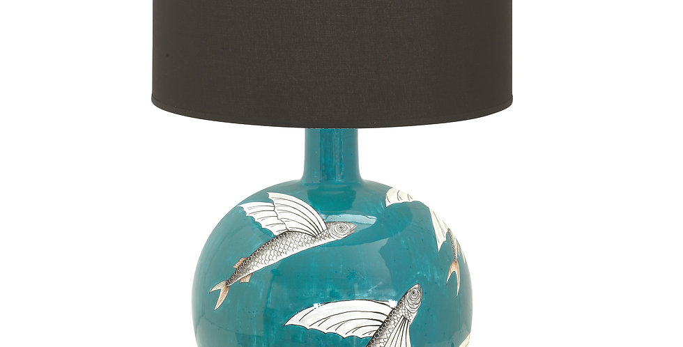 Antica Deruta  Lamp base wih shade