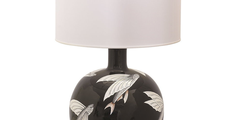 Antica Deruta  Lamp base wih shade (black)