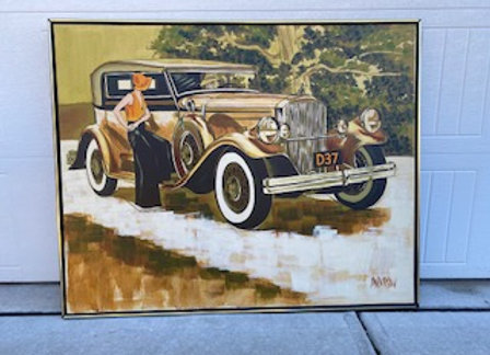 Old Car Painting