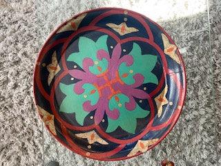 Thai hand-painted platter