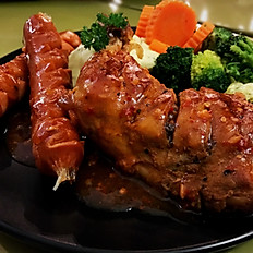 Grilled Chicken Leg with Sausages Combo