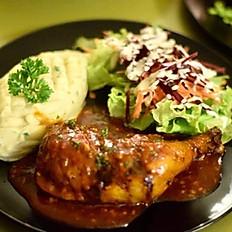 Barbecue Chicken with Mash Potato
