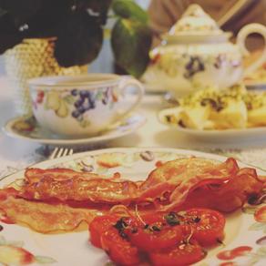 Ugnsbakad bacon och tomat LCHF