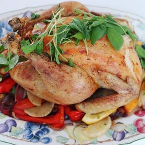Hel kyckling med salvia & c