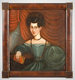Portraits, Pair, Woman & Man, Oil on Board_woman entire_594 - Copy.jpg