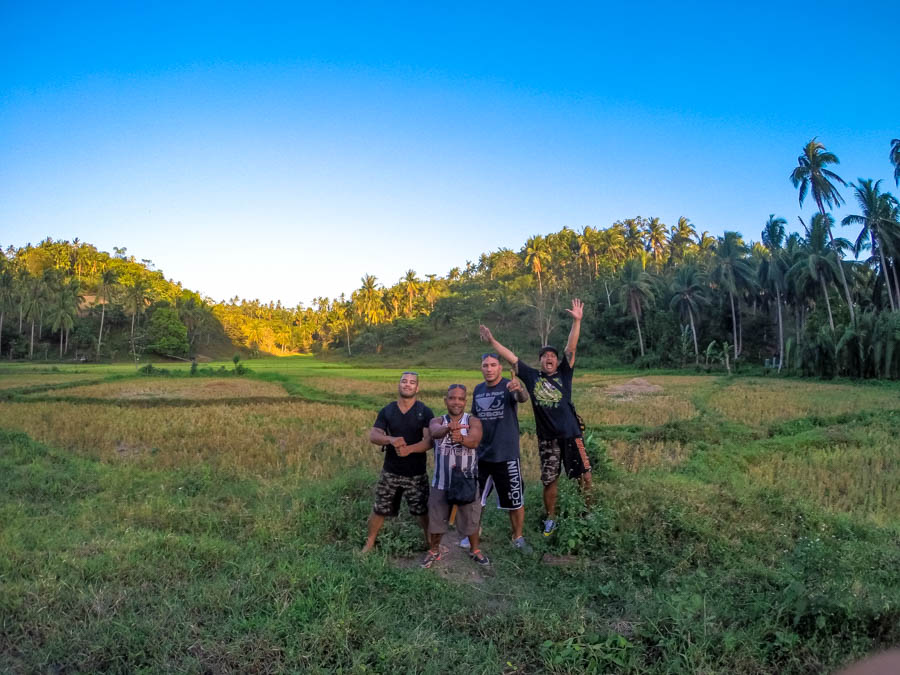 Brandon Vera Philippines rice field