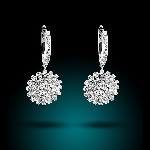 14KW DIAMOND EARRING D.75CT