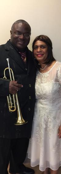 Karen with her husband, Lee