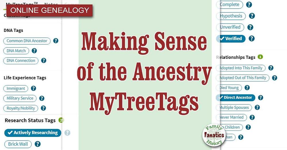 Ancestry MyTreeTags