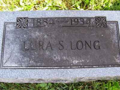 Lura Smith Long's Grave Marker