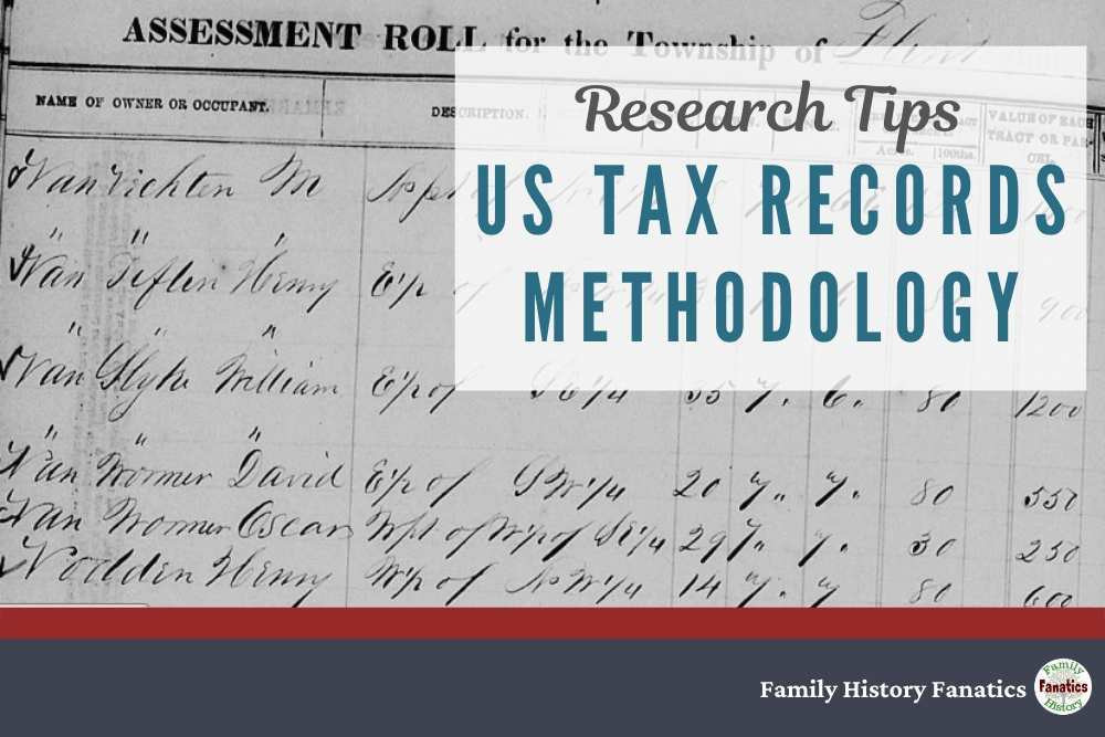Historic Tax Record with title US Tax Record Methodology for Genealogy