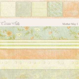 Peach and Green Heritage Scrapbook paper Kit from Coreen Silke