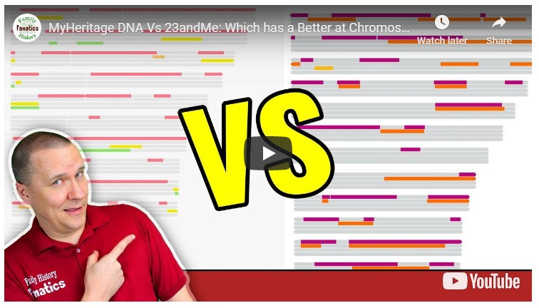 Video: 23andMe vs MyHeritage - Who has the better chromosome browser