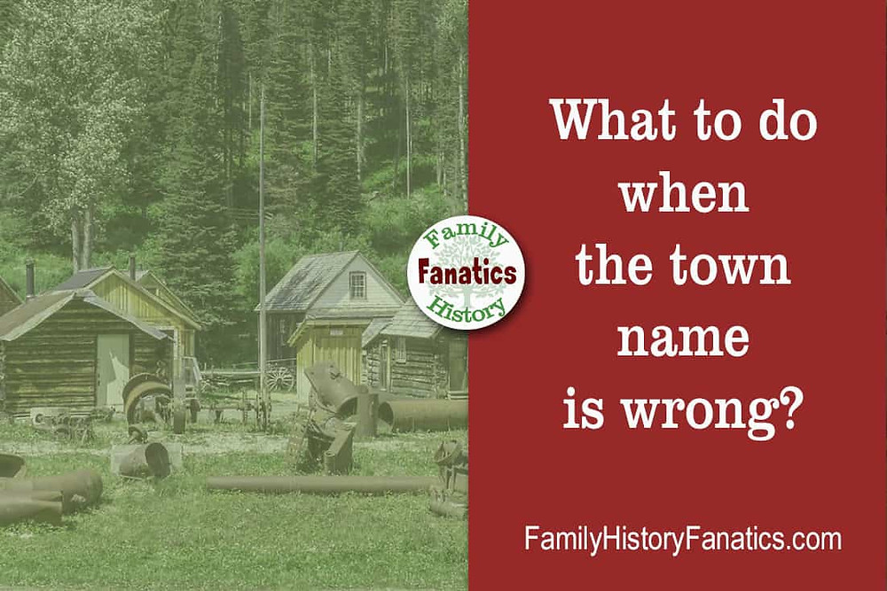 Historical town with the title what to do when the town name is wrong?