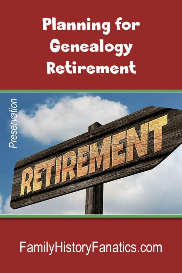 sign saying Retirement